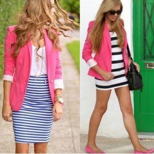 Zara Woman Pink One Button Blazer EUC Med